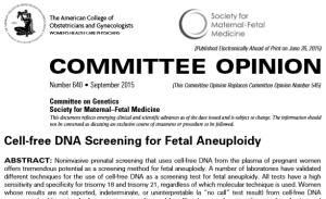 ACOG-SMFM cfDNA guidelines